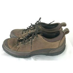 LL Bean Women's Brown Leather Lace up Shoes Sneake